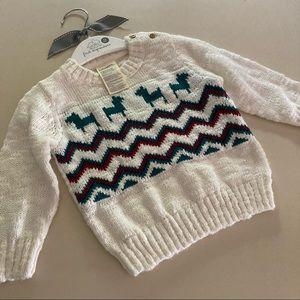 First Impressions NEW Sweater Chevron Deer Alpaca